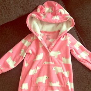Babygirl hooded one piece jumpsuit